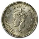 India Silver 1/4 Rupees King George VI Avg Circ