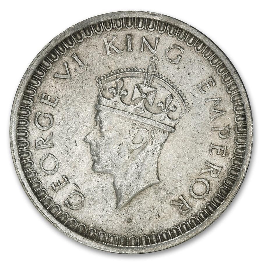 India Silver Rupees George VI Avg Circ (Random Dates)