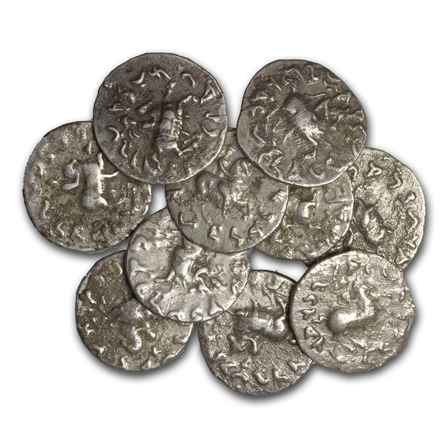 Indo-Greek Kingdoms Silver Drachm Antimachos II (174-165 BC) VF