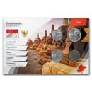 Indonesia 100 - 1,000 Rupiah 4-Coin Set BU (Landscape Packaging)
