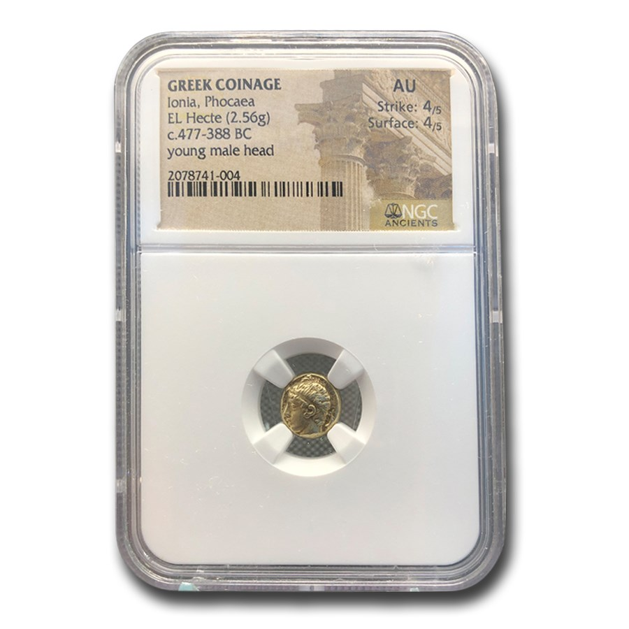 Ionia Phocaea EL Hecte Head of a Young Male (477-388 BC) AU NGC