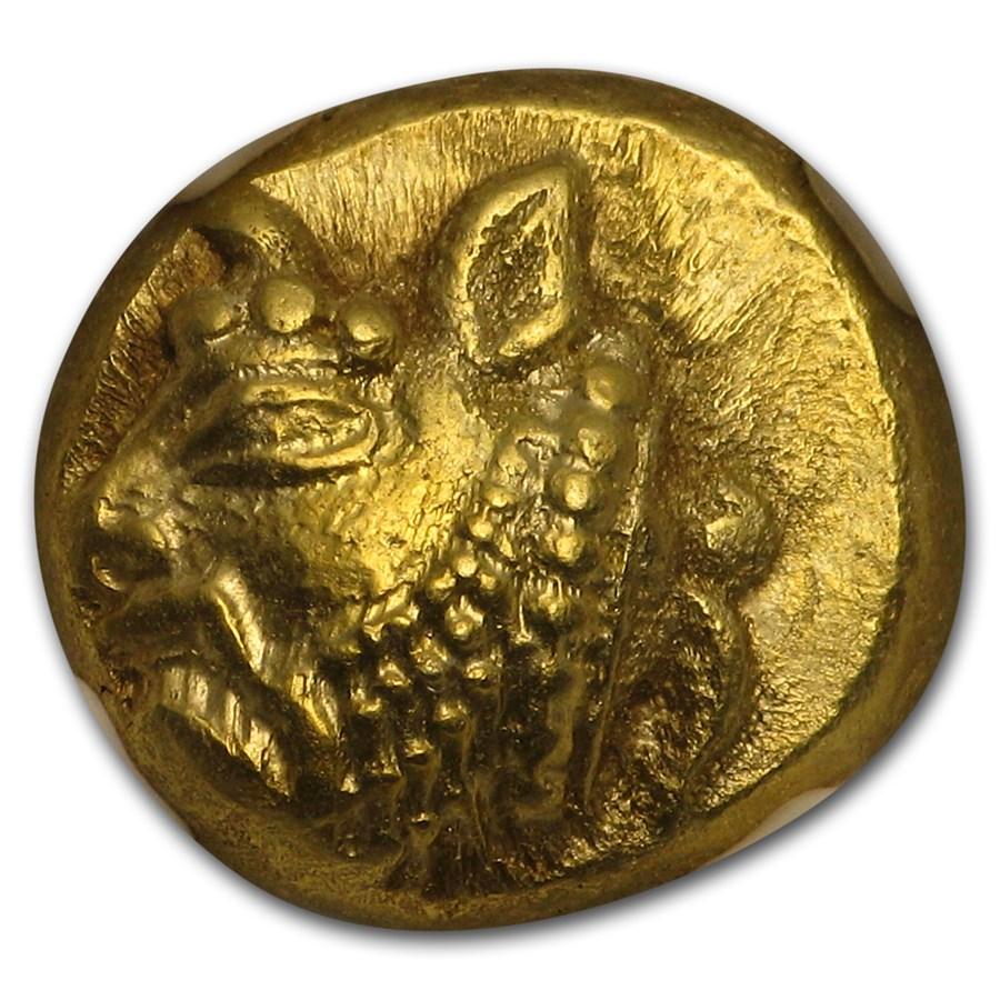 Ionia Phocaea EL Hecte Head of River-god (521-478 BC) MS NGC