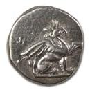 Ionia, Teos Silver Diobol (320-294 BC) XF