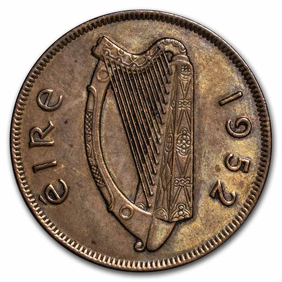 Ireland Large Pennies Dated 1928-1968