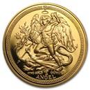 Isle of Man 1/2 oz Gold Angel BU/Proof (Random Year)
