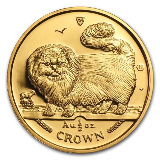 Isle of Man 1/2 oz Gold Cat BU/Proof (Random)
