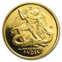 Isle of Man 1/20 oz Gold Angel BU/Proof (Random Year)