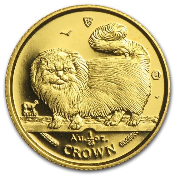 Isle of Man 1/25 oz Gold Cat BU/Proof (Random)