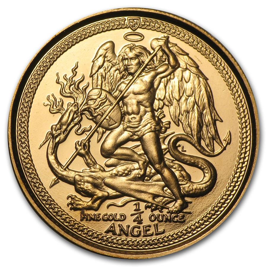 Isle of Man 1/4 oz Gold Angel BU/Proof (Random Year)