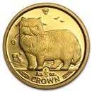 Isle of Man 1/5 oz Gold Cat BU/Proof (Random)