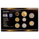 Israel 1 Sheqal - 10 New Sheqalim 8-Coin Set BU