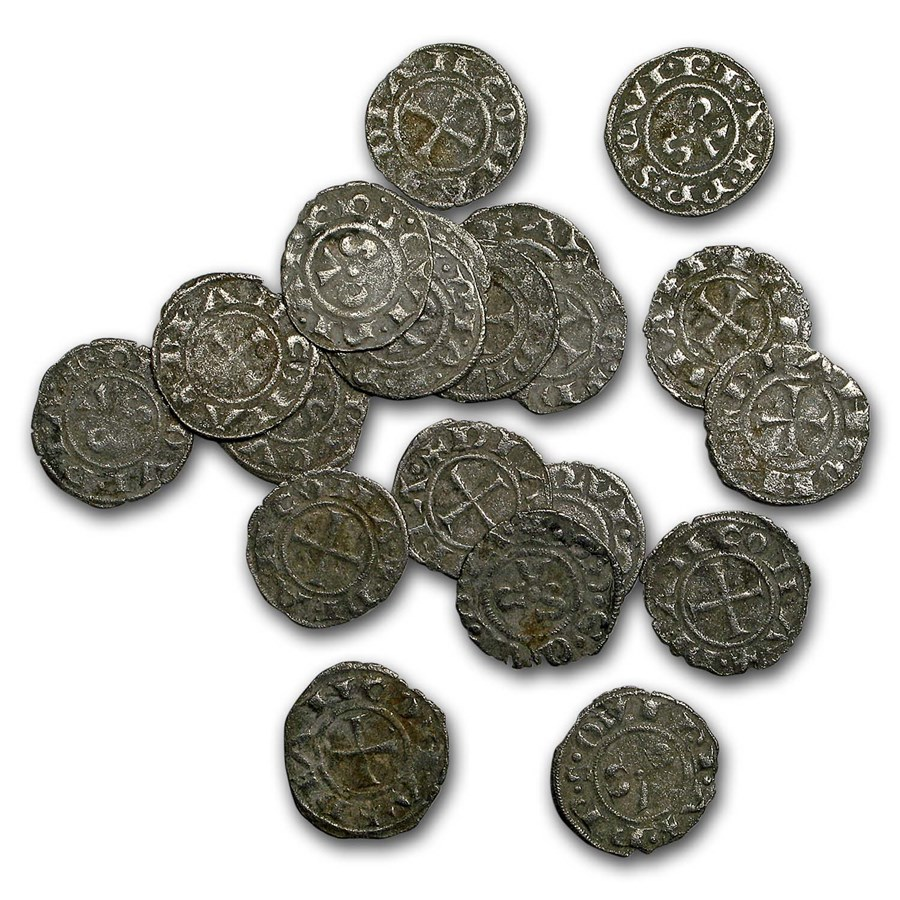 Italy Ancona Republic Silver Denaro (13th century) (Crusades)