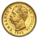 Italy Gold 20 Lire Umberto I (1879-1897) BU
