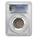 Italy Napoli Silver Gigliato (1309-1343 AD) AU-Details PCGS