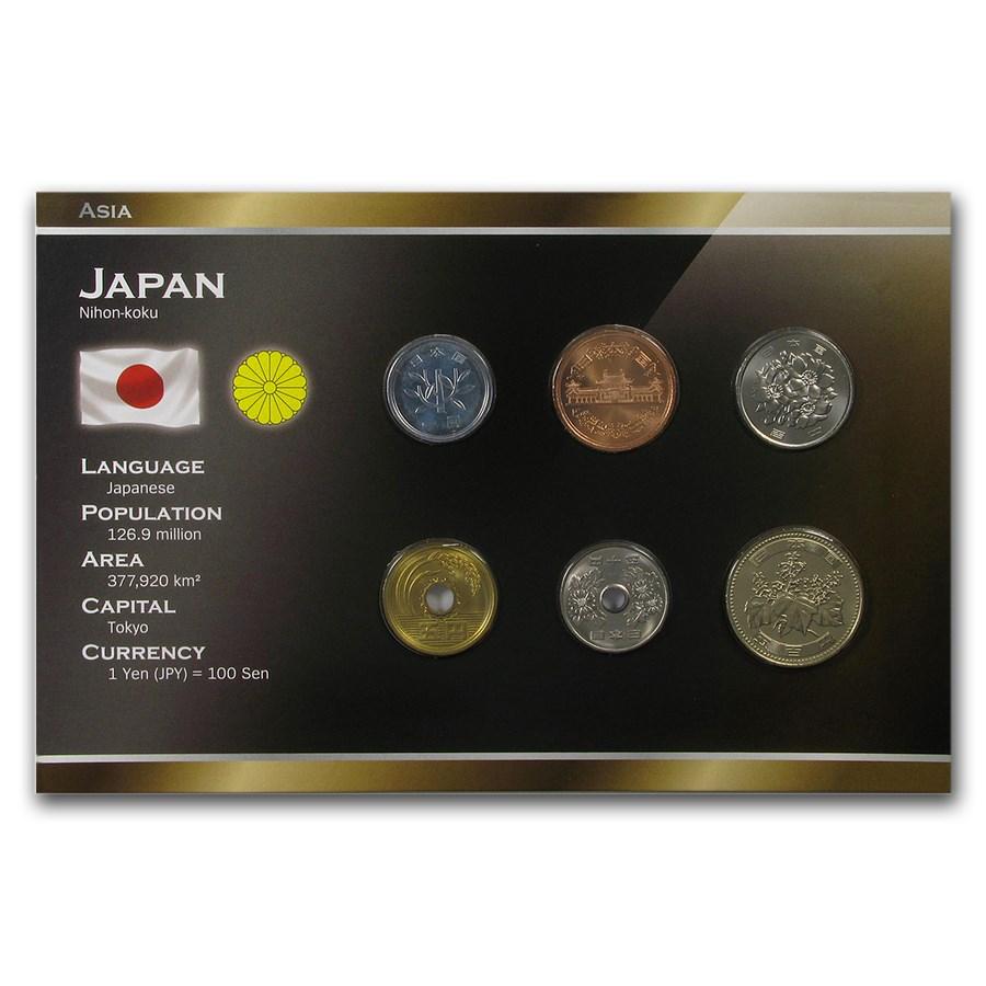 Japan 1 Yen - 500 Yen 6-Coin Set BU