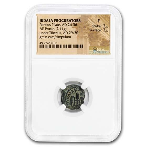 Judæa AE Prutah Pontius Pilate 29-30 AD Fine NGC (RPC I 4967)