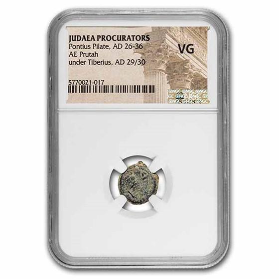 Judæa AE Prutah Pontius Pilate 29-30 AD VG NGC (RPC I 4967)
