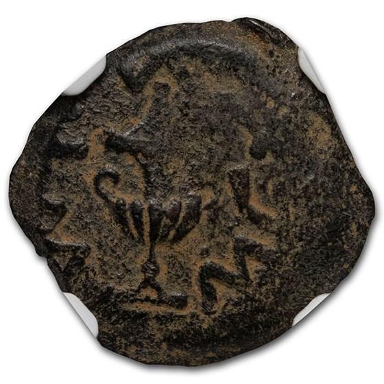 Judaea AE Prutah Jewish War (68/9 AD) Ch Fine NGC (Year 3)