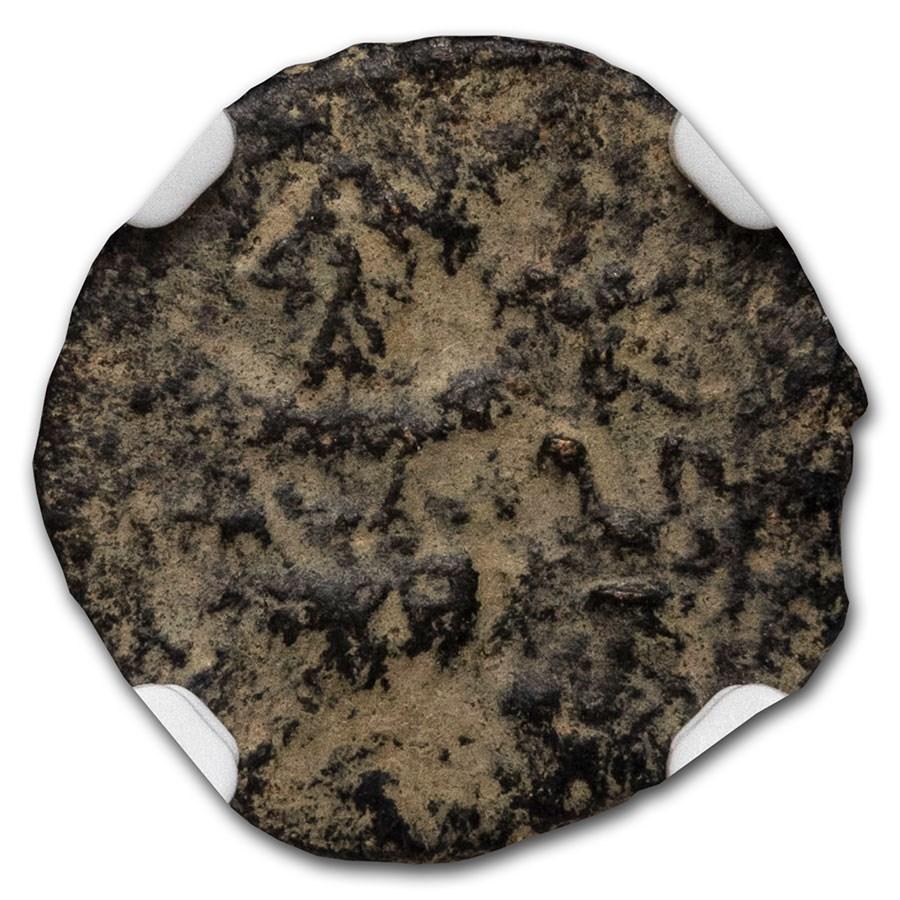 Judaea AE Prutah Jewish War 68/9 AD) Fine NGC Year 3 (Repatina)
