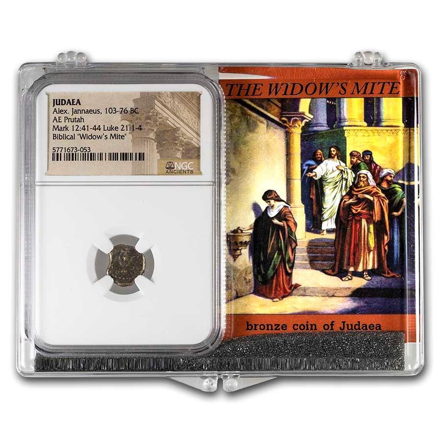 Judaea Alex. Jannaeus Widow's Mite High Grade NGC Set