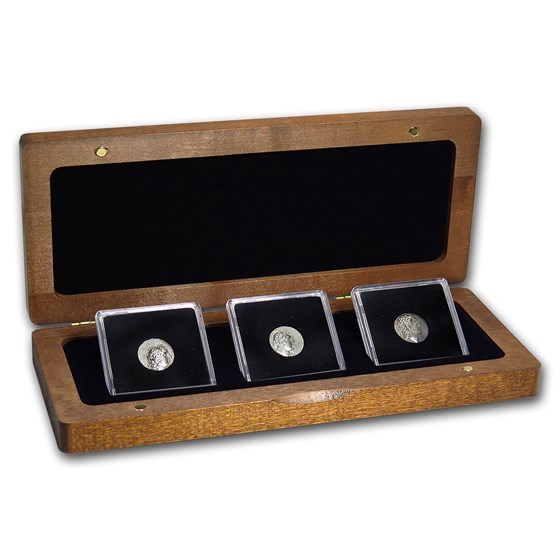 Kingdom Cappadocia 3-Coin AR Drachm Set Kings Ariarathes V-VII