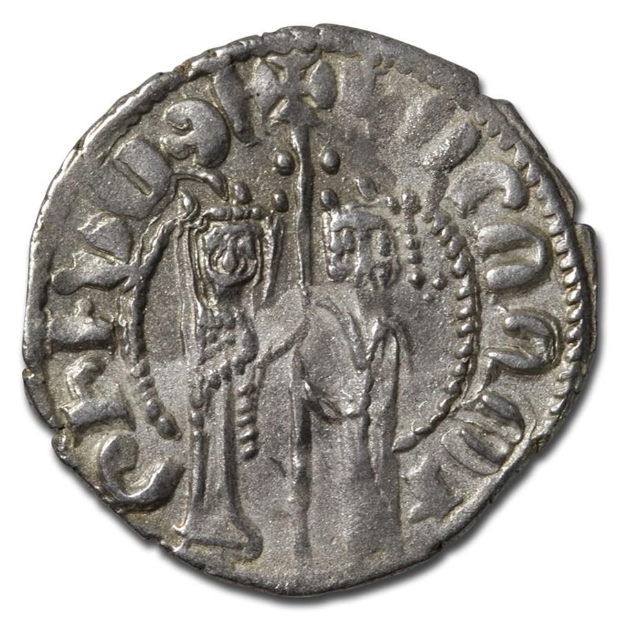 Kingdom of Armenia Silver Tram Hetoum I & Zabel (1226-1270 AD) XF