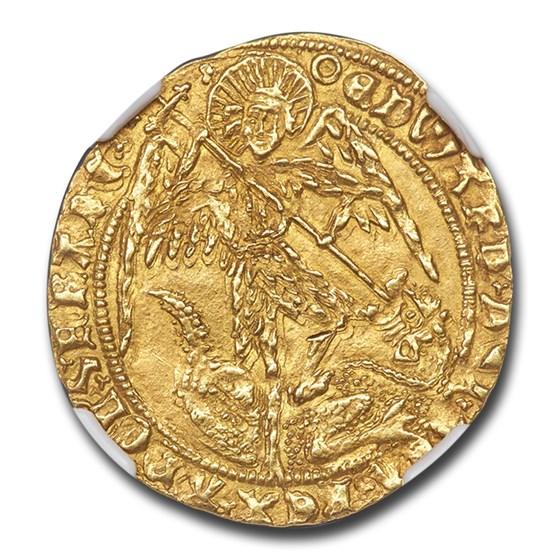 Kingdom of England Gold Angel Edward IV (1471-83) MS-63 NGC