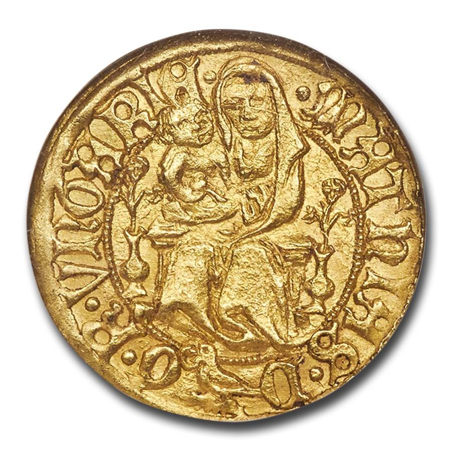 Kingdom of Hungary AV Goldgulden M. Corvinus (1458-90) MS-64 NGC