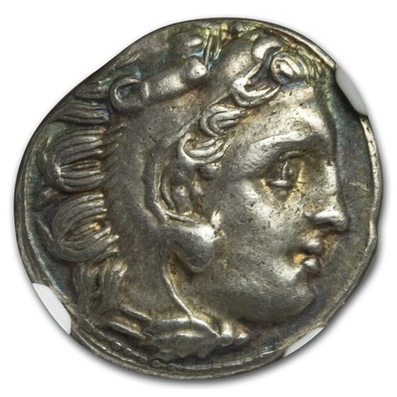 Kingdom of Macedon AR Drachm Alexander III (336-323 BC) AU NGC