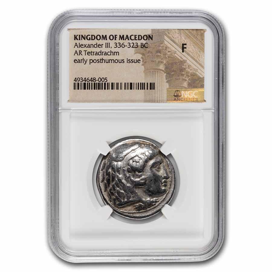 Kingdom of Macedon AR Tetradrachm Alex. III (336-323 BC) Fine NGC