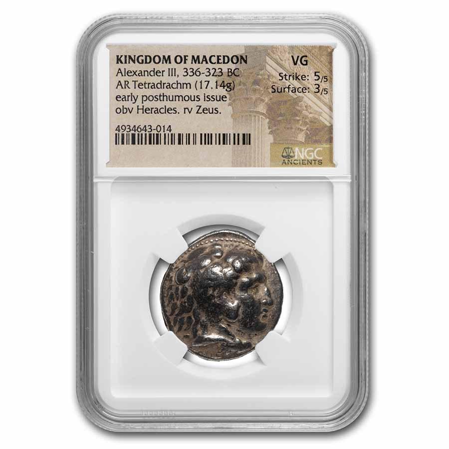Kingdom of Macedon AR Tetradrachm Alex. III (336-323 BC) VG NGC