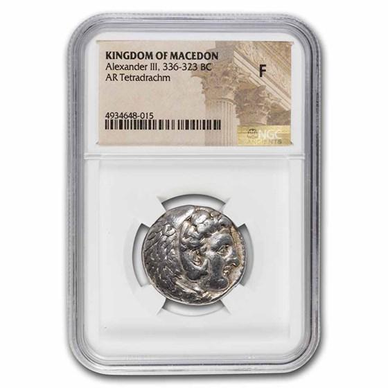Kingdom of Macedon AR Tetradrachm Alex III c.336-323 BC Fine NGC