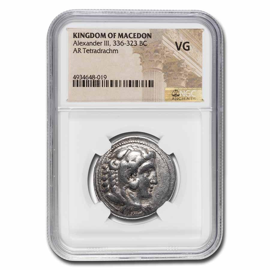 Kingdom of Macedon AR Tetradrachm Alex. III (c.336-323 BC) VG NGC