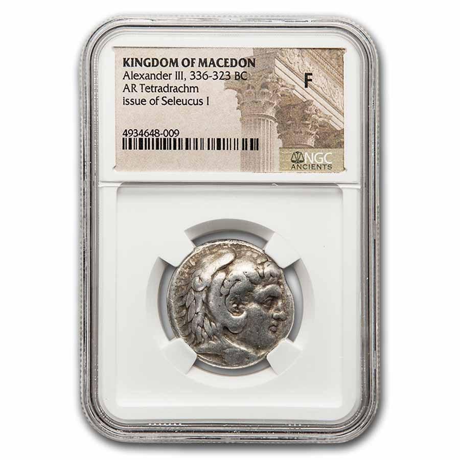 Kingdom of Macedon AR Tetradrachm Seleucus I 336-323 BC Fine NGC