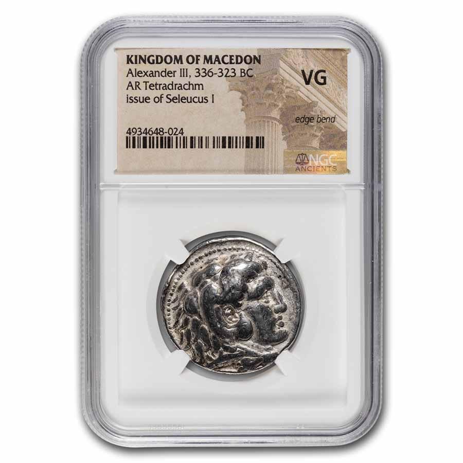 Kingdom of Macedon AR Tetradrachm Seleucus I (336-323 BC) VG NGC