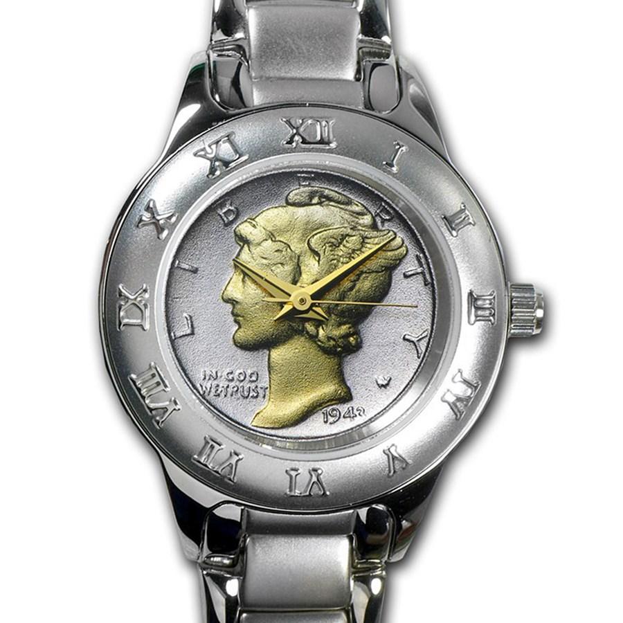 Ladies Mercury Dime Watch - Silvertone
