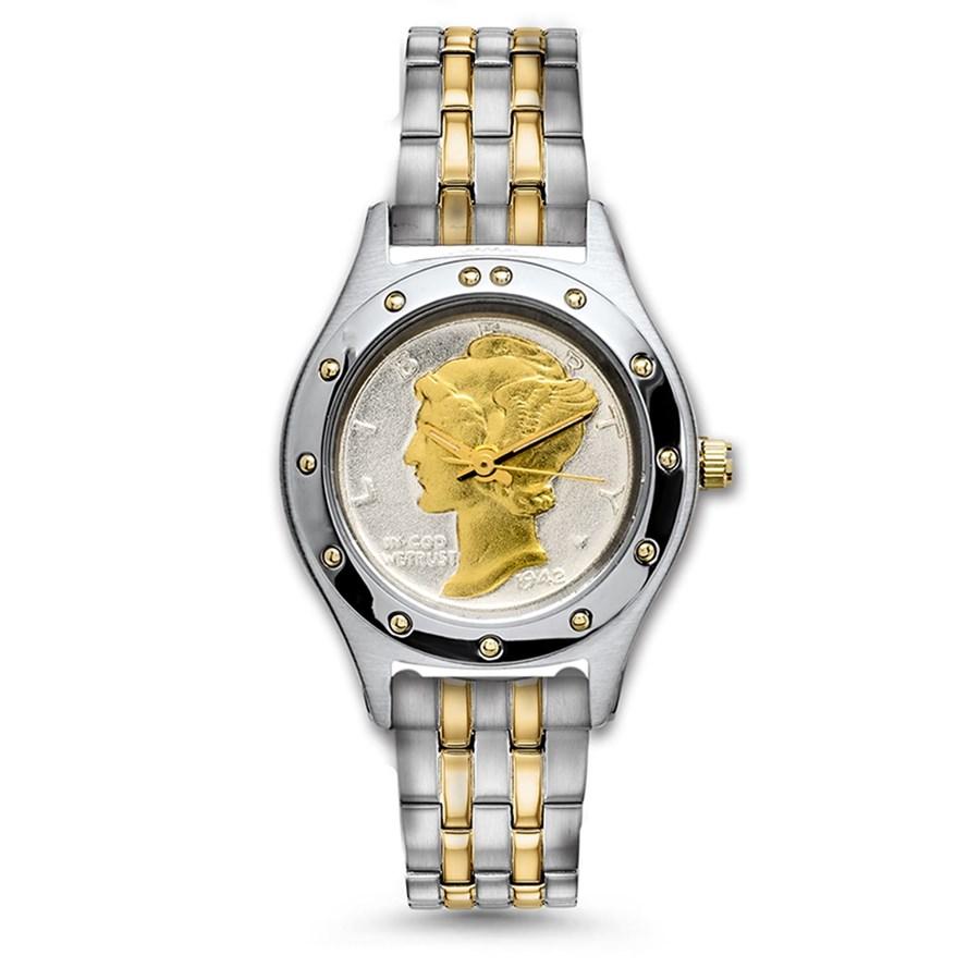 Ladies Two-Tone U.S. Mercury Dime Watch