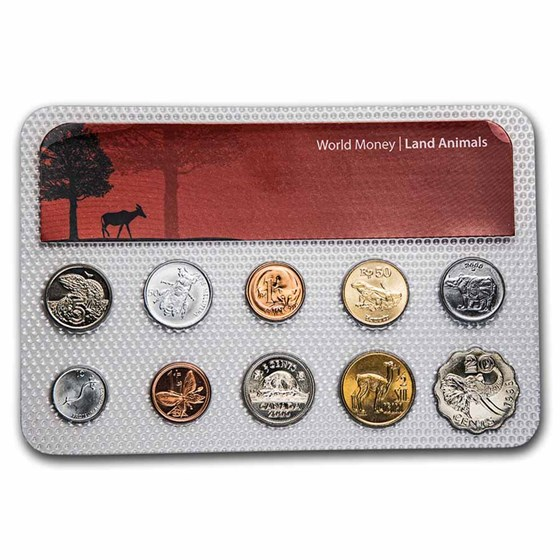 Land Animal Coins from Around the World 10-Coin Set BU