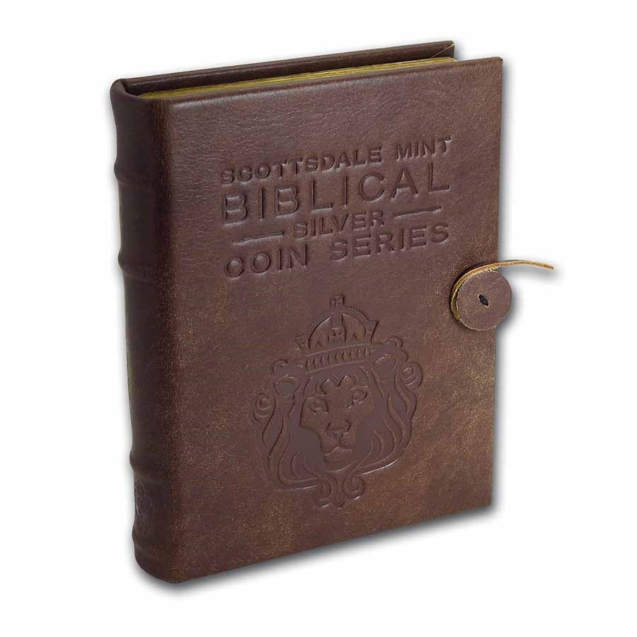 Leather 6-Coin Collector's Album - 2021 Biblical Series