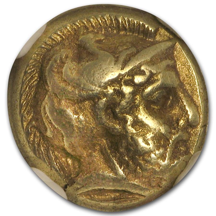 Lesbos, Mytilene EL Hecte Ares/Amazon (412-378 BC) Ch XF NGC