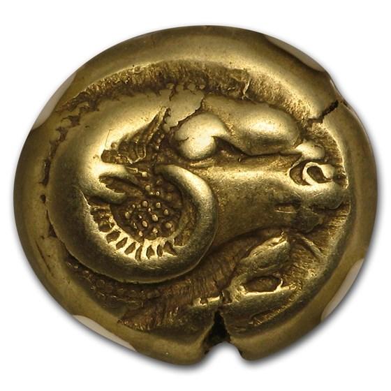 Lesbos, Mytilene EL Hecte Ram/Lion (521-478 BC) XF NGC