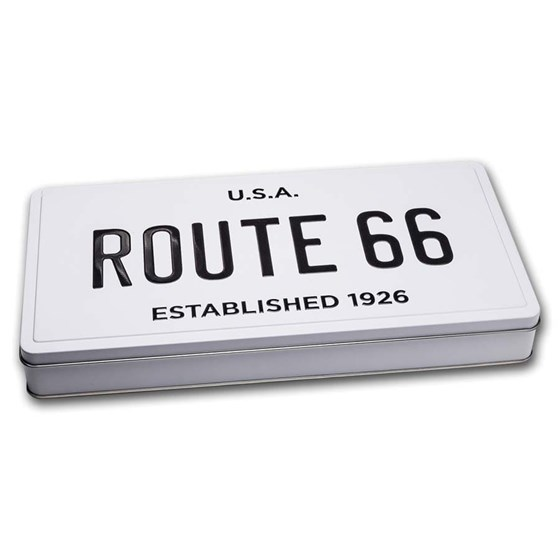 License Plate Tin - Icons of Route 66 Shield Collection