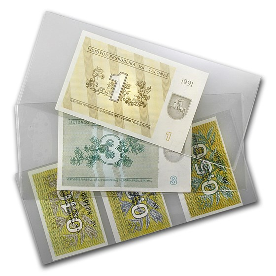 Lithuania 1991 Lot of 5 Notes - CU