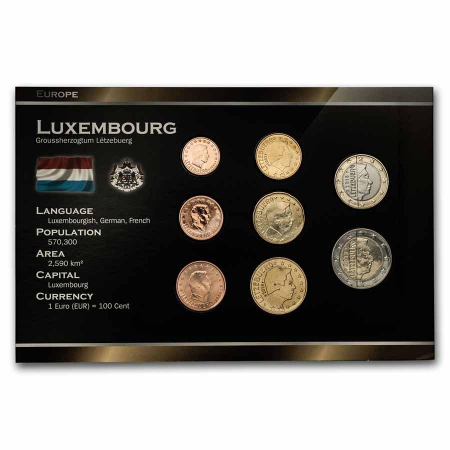 Luxembourg 1 Cent-2 Euro 8-Coin Euro Set BU
