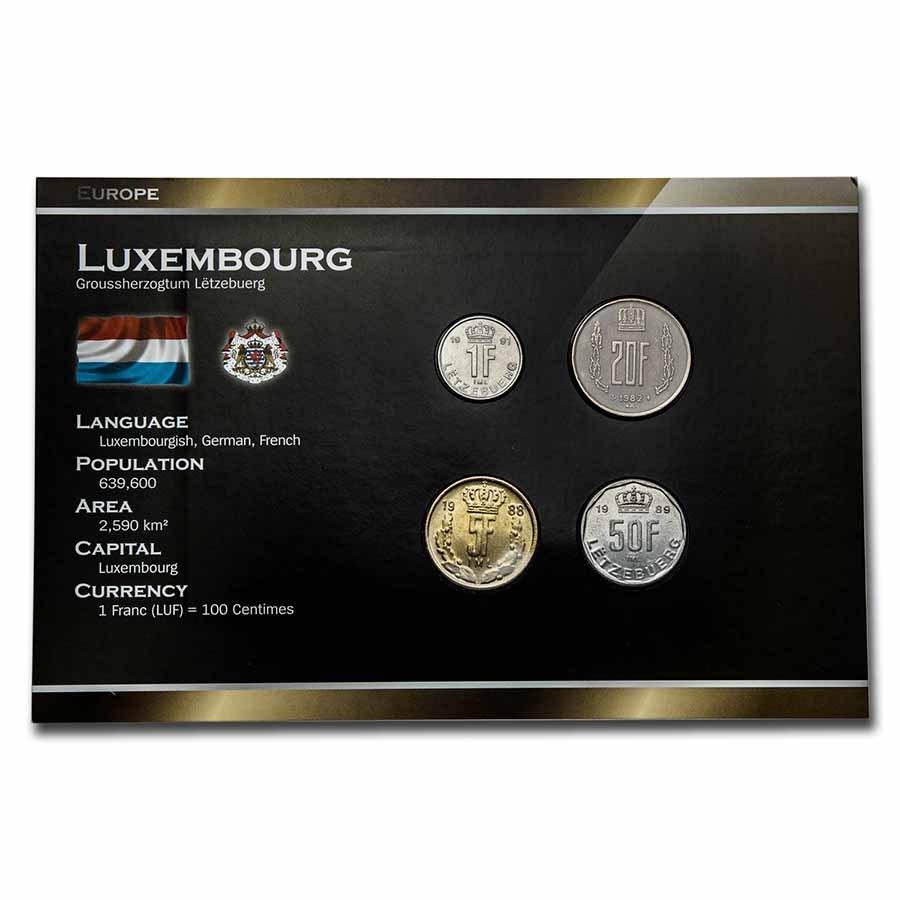 Luxembourg Pre-Euro 4-Coin Set BU