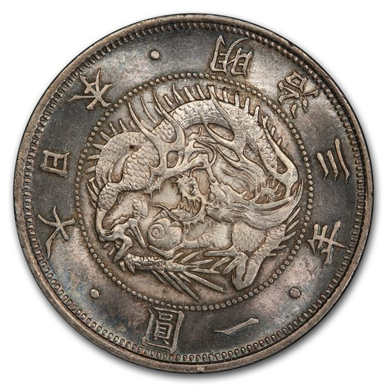 M3 (1870) Japan 1 Yen Meiji Era Type 1 MS-65 PCGS