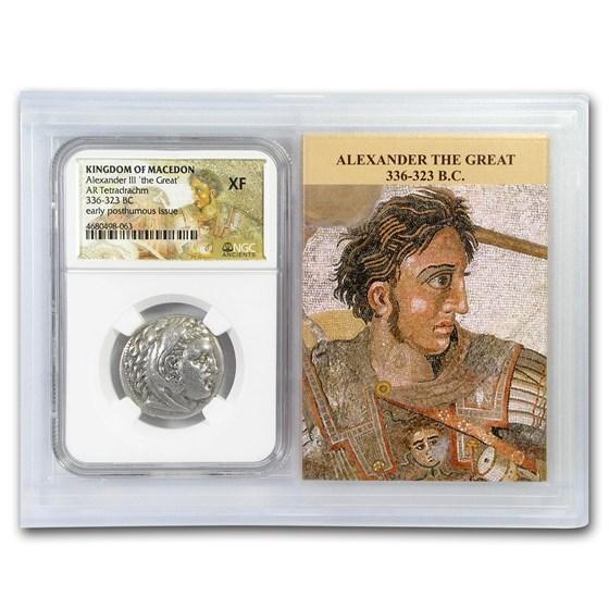 Macedon Alexander III Tetradrachm (336-323 BC) XF NGC (Vault)