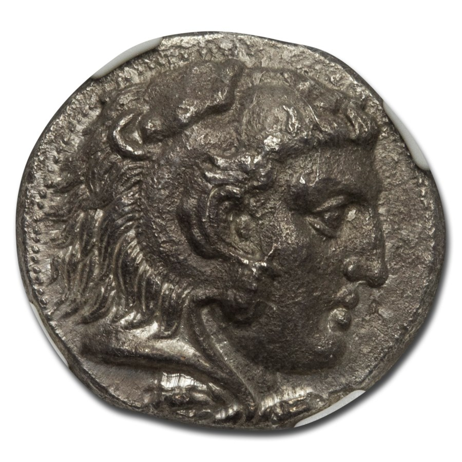 Macedon AR Tetradrachm Alexan. III 336-323 BC XF NGC (Fine Style)
