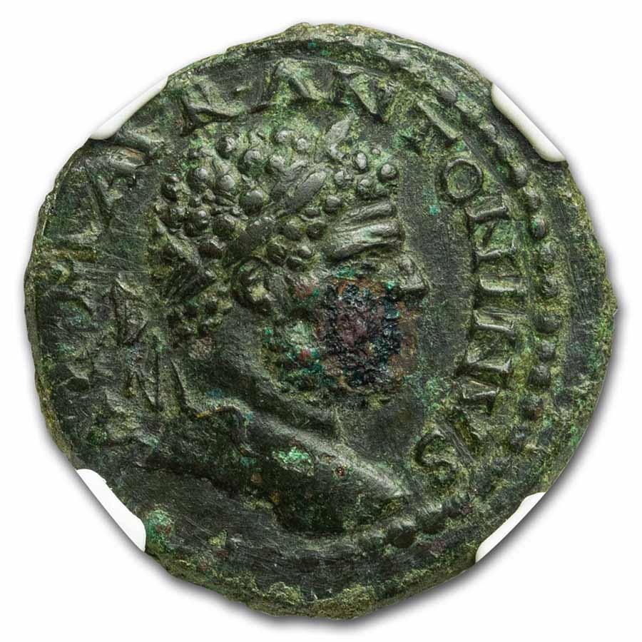 Macedon Stobi AE24 Caracalla (198-218 AD) Ch XF NGC