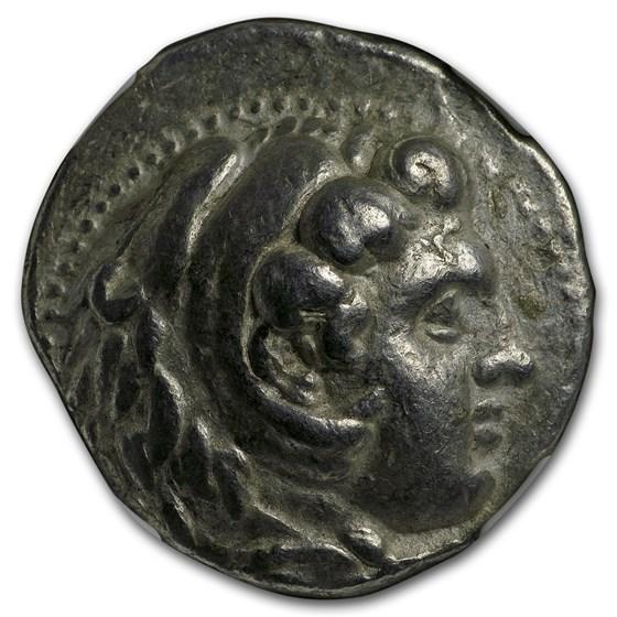 Macedon Tetradrachm Alexander III (336-323 BC) CH VF NGC (Mosaic)